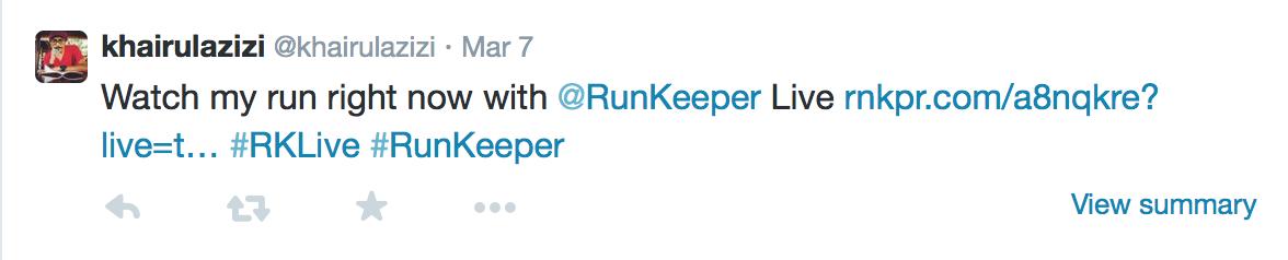 twitter runkeeper