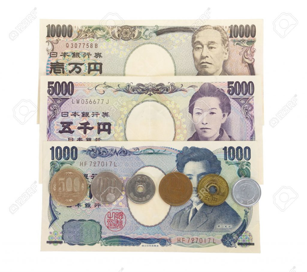 26467799-close-up-japanese-currency-yen-bank-notes-and-coins-stock-photo