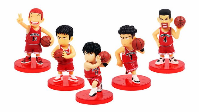 Free-Shipping-5-PCs-Slam-Dunk-Anime-Action-Figure-Toy